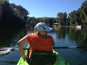 My sister's first time in a kayak