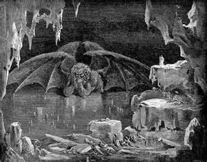 Dante's Ninth Circle of Hell - a lake of ice