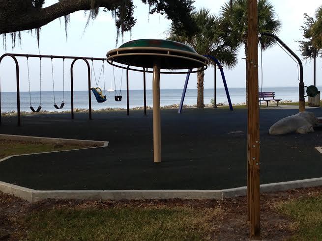 Past the playground