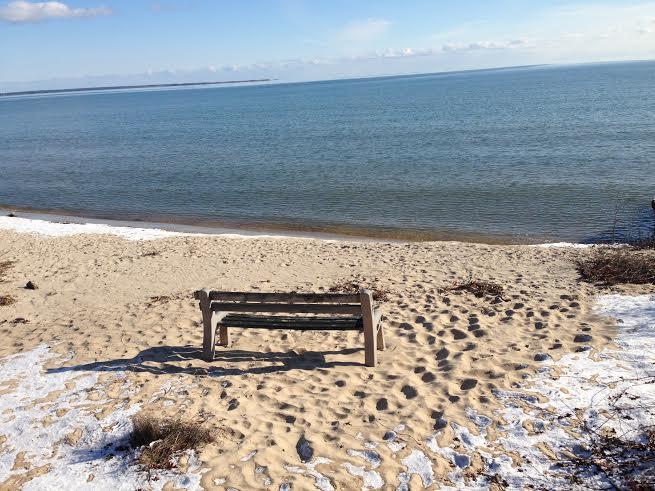 Our little beach on Tawas Bay, Lake Huron