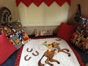 I always wanted to be a cowgirl so that's how I decorated my Casita