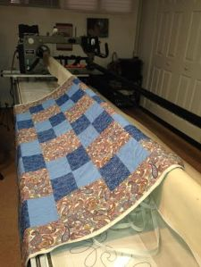 Worked on customer quilts on my long arm machine