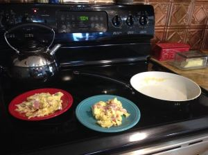Made breakfast & cleaned the kitchen