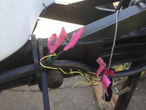Girly repairs with pink duct tape
